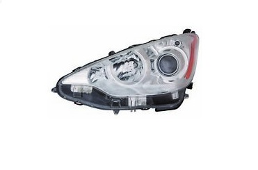 11-15 Prius C Headlight Left W/Bulbs