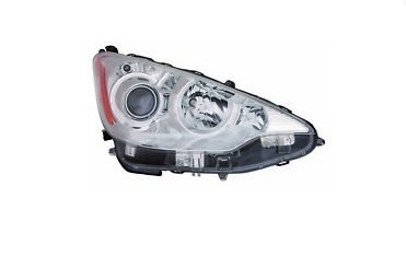 11-15 Prius C Headlight Right W/Bulbs